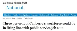 'Three per cent of Canberra's workforce could be in firing line with public service job cuts' - www_smh_com_au_nation